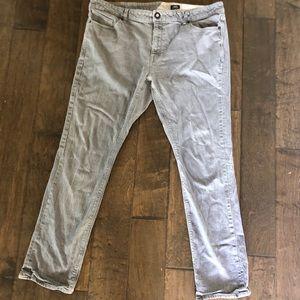 Volcom Men's Vorta Slim straight Gray Jeans